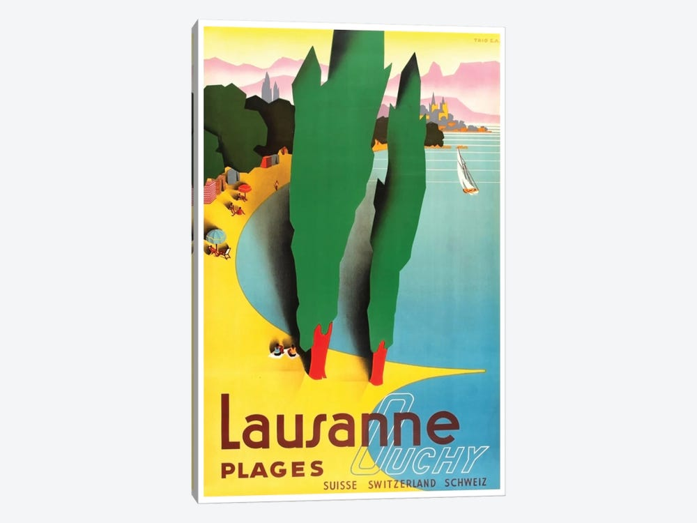 Lausanne-Ouchy, Switzerland IV by Unknown Artist 1-piece Canvas Art