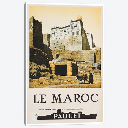 Le Maroc (Morocco) I 3-Piece Canvas #LIV186} by Unknown Artist Canvas Art