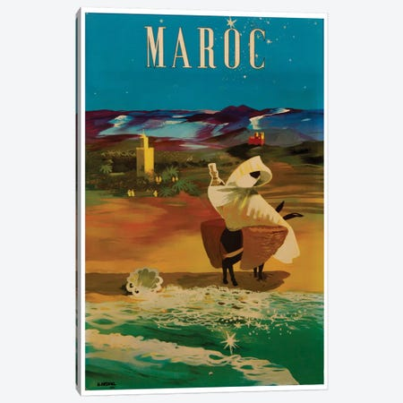 Le Maroc (Morocco) II Canvas Print #LIV187} by Unknown Artist Canvas Artwork