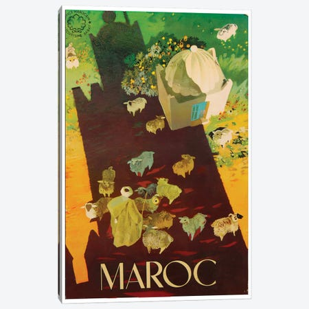 Le Maroc (Morocco) III Canvas Print #LIV188} by Unknown Artist Art Print