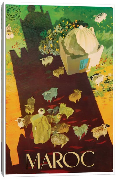 Le Maroc (Morocco) III Canvas Art Print