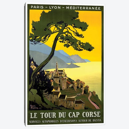 Le Tour du Cap Corse: Paris, Lyon, Mediterranean Canvas Print #LIV189} by Unknown Artist Canvas Print