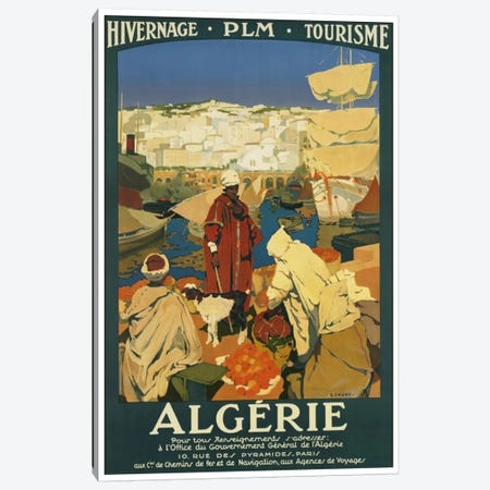 Algeria: Tourism Canvas Print #LIV18} by Unknown Artist Canvas Art Print