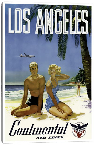Los Angeles - Continental Airlines Canvas Art Print
