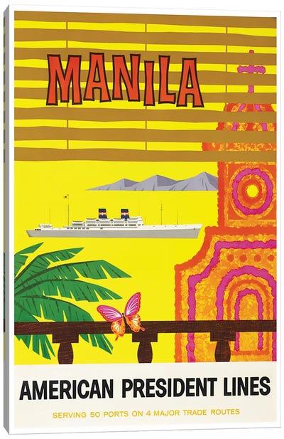 Manila - American President Lines Canvas Print #LIV194
