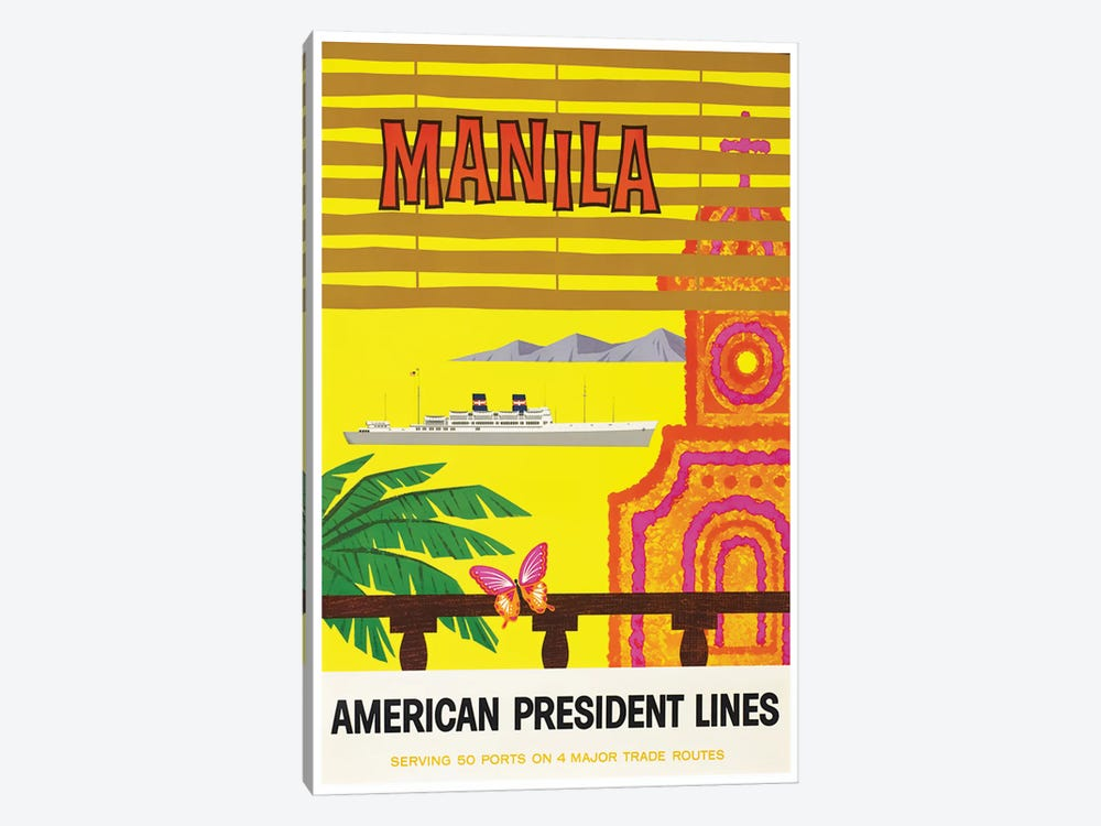 Manila - American President Lines by Unknown Artist 1-piece Art Print