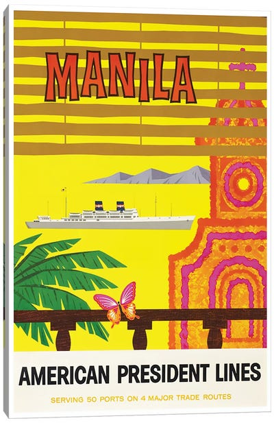 Manila - American President Lines Canvas Art Print