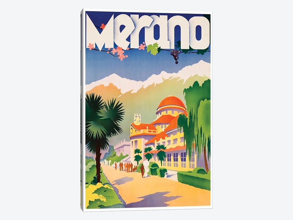 Merano, Italy by Unknown Artist 1-piece Canvas Print