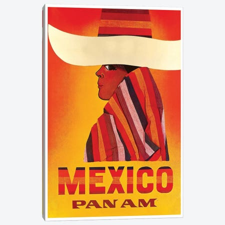 Mexico - Pan American I Canvas Print #LIV198} by Unknown Artist Canvas Artwork