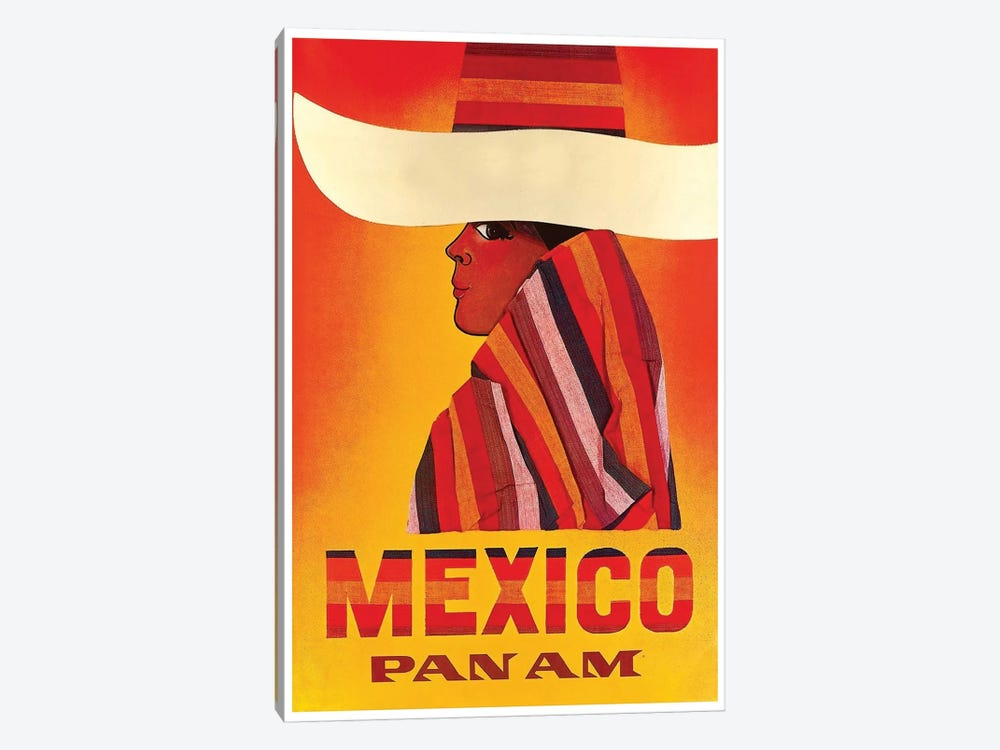 Mexico - Pan American I by Unknown Artist 1-piece Canvas Print