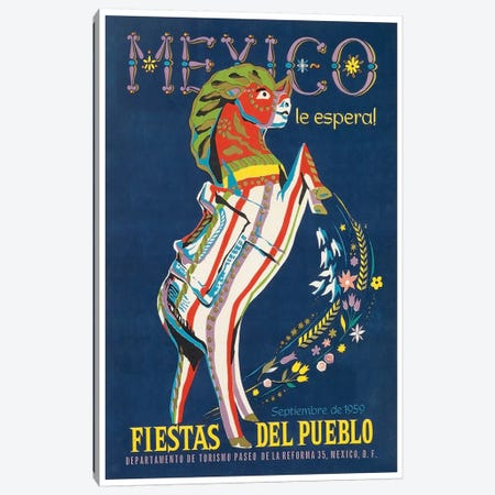 Mexico le Espera! Fiestas del Pueblo, Septiembre de 1959 Canvas Print #LIV202} by Unknown Artist Canvas Art