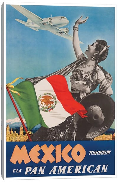 Mexico Tomorrow Via Pan American Canvas Art Print