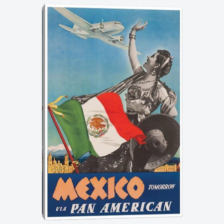 Mexico Tomorrow Via Pan American Canvas Print #LIV203} by Unknown Artist Canvas Artwork