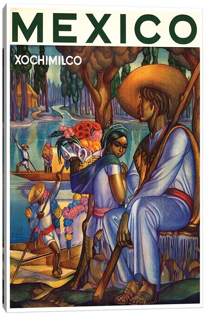 Mexico, Xochimilco Canvas Art Print