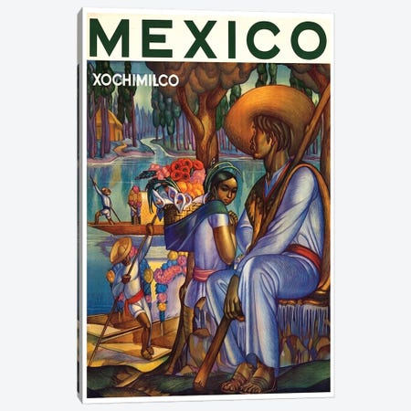 Mexico, Xochimilco Canvas Print #LIV205} by Unknown Artist Canvas Art Print