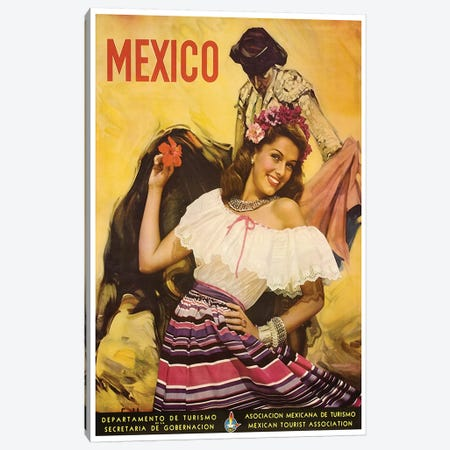 Mexico: Tourism I Canvas Print #LIV206} by Unknown Artist Canvas Art Print