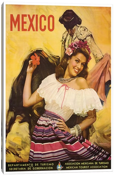 Mexico: Tourism I Canvas Art Print