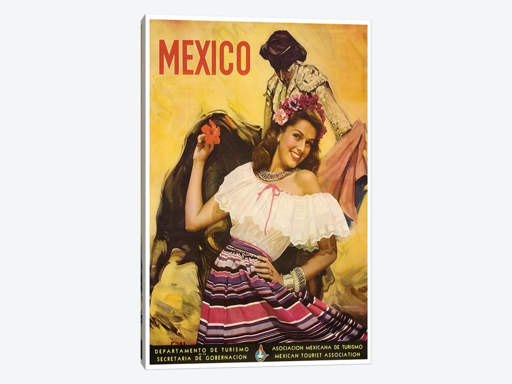 Mexico: Tourism I 1-piece Canvas Art