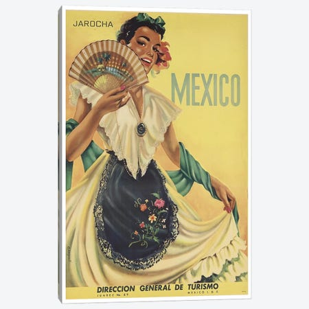Mexico: Tourism II Canvas Print #LIV207} by Unknown Artist Canvas Print