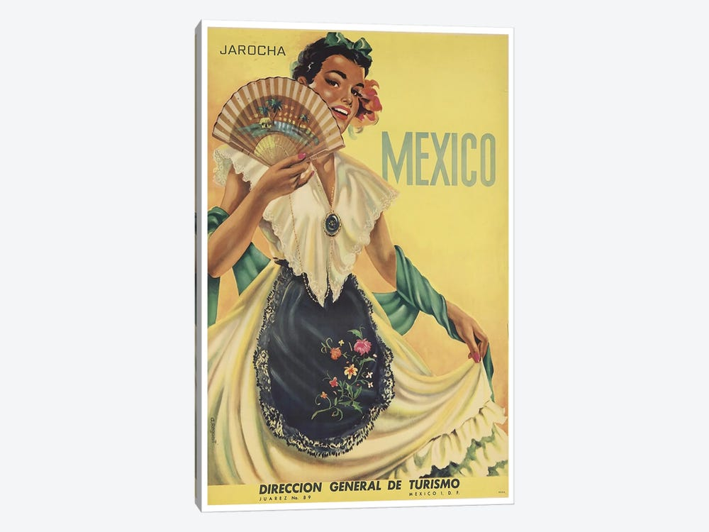 Mexico: Tourism II by Unknown Artist 1-piece Canvas Art Print