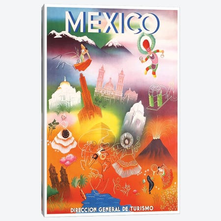 Mexico: Tourism III Canvas Print #LIV208} by Unknown Artist Canvas Wall Art