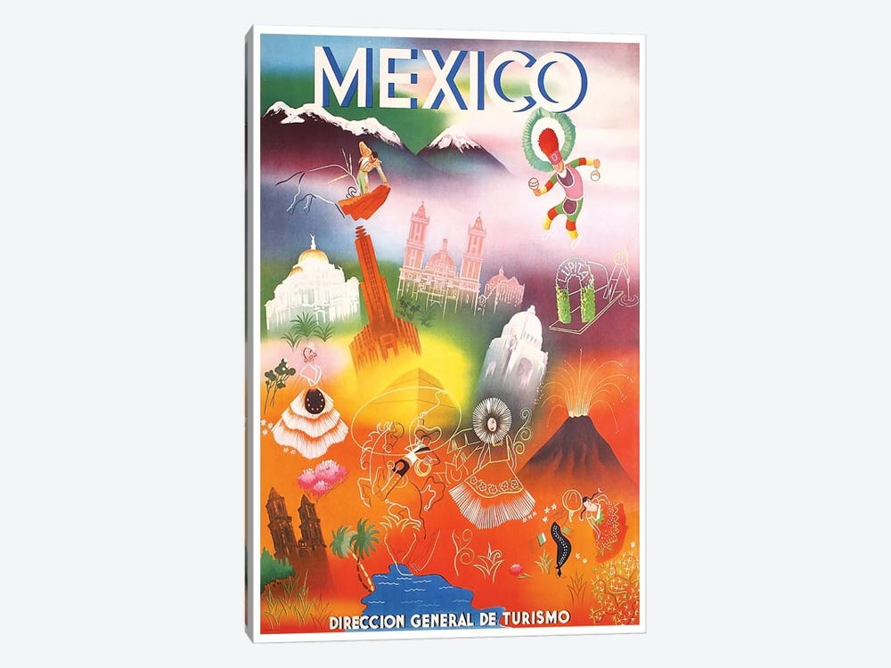 Mexico: Tourism III by Unknown Artist 1-piece Canvas Artwork