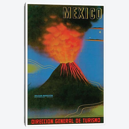 Mexico: Volcan Paricutin Canvas Print #LIV209} by Unknown Artist Canvas Artwork