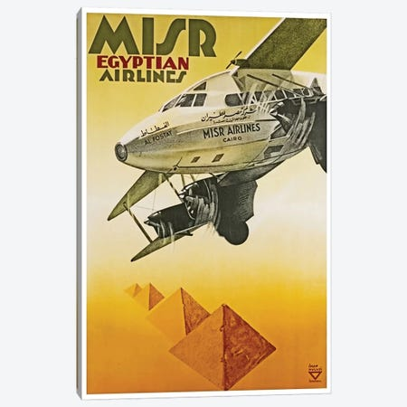 Misr Egyptian Airlines Canvas Print #LIV213} by Unknown Artist Canvas Print