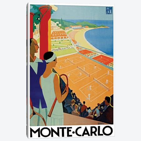 Monte Carlo Canvas Print #LIV214} by Unknown Artist Canvas Wall Art
