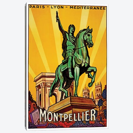 Montpellier Canvas Print #LIV215} by Unknown Artist Canvas Artwork