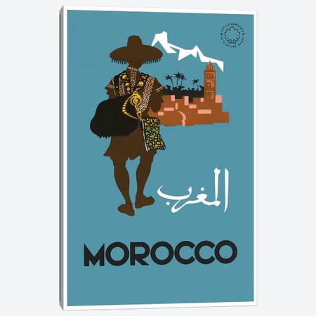 Morocco: Tourism Canvas Print #LIV216} by Unknown Artist Canvas Art