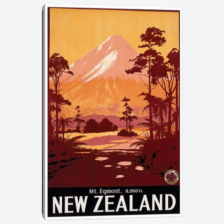 Mount Egmont, New Zealand Canvas Print #LIV217} by Unknown Artist Canvas Wall Art