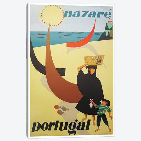 Nazare, Portugal Canvas Print #LIV220} by Unknown Artist Canvas Wall Art