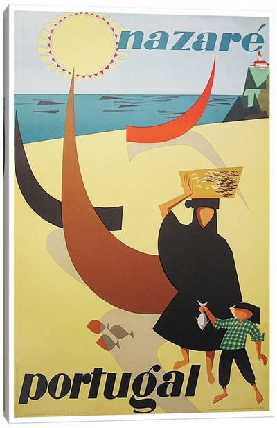 Nazare, Portugal Canvas Art Print