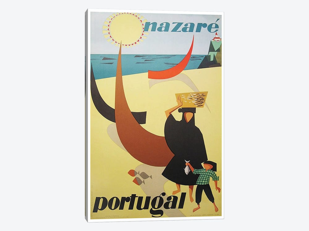 Nazare, Portugal by Unknown Artist 1-piece Canvas Art