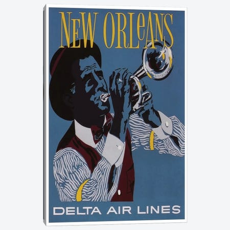 New Orleans - Delta Air Lines Canvas Print #LIV223} by Unknown Artist Canvas Artwork