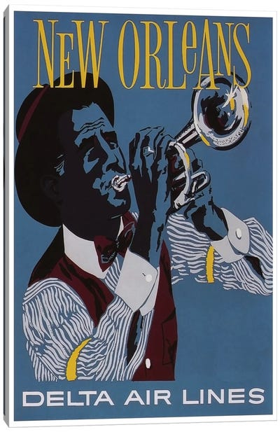 New Orleans - Delta Air Lines Canvas Art Print