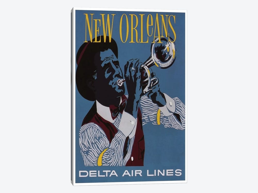 New Orleans - Delta Air Lines by Unknown Artist 1-piece Art Print