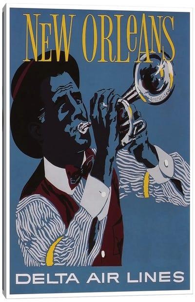New Orleans - Delta Air Lines Canvas Art Print