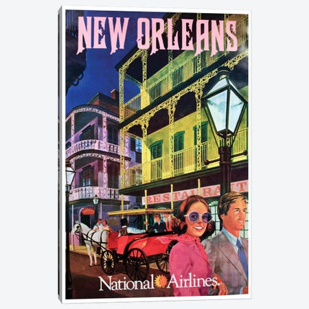 New Orleans - National Airlines Canvas Print #LIV224} Canvas Art Print