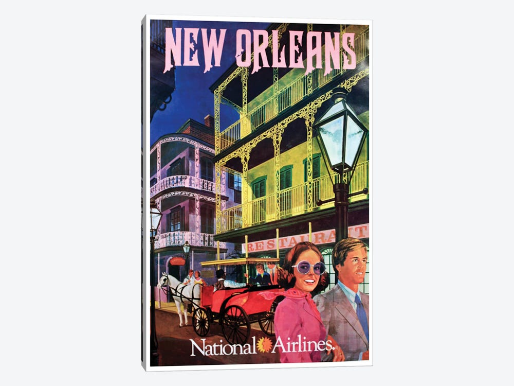 New Orleans - National Airlines by Unknown Artist 1-piece Canvas Artwork