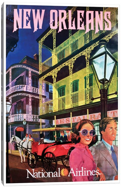 New Orleans - National Airlines Canvas Art Print