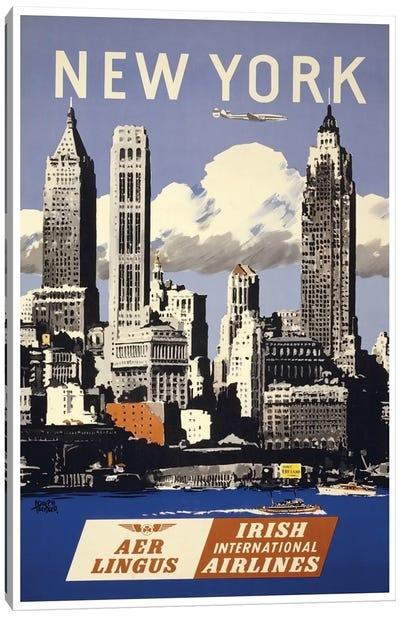 New York - Aer Lingus Irish International Airlines Canvas Print #LIV226