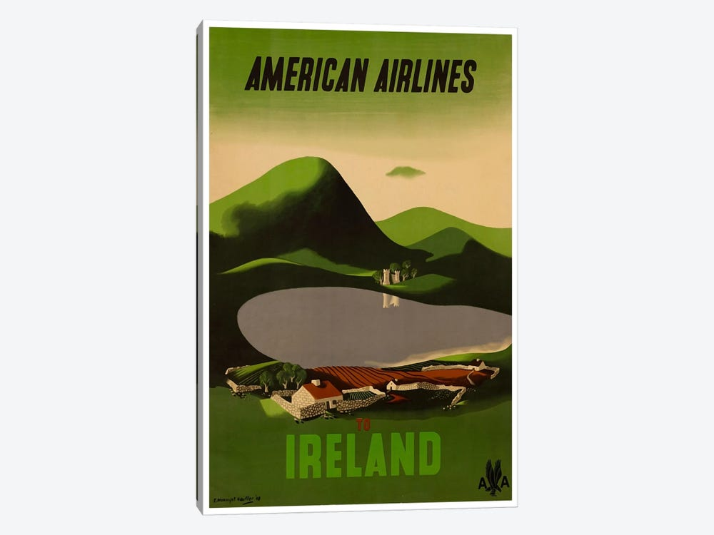 American Airlines To Ireland by Unknown Artist 1-piece Canvas Art