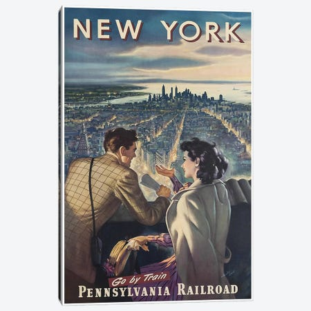 New York - Pennsylvania Railroad Canvas Print #LIV230} by Unknown Artist Art Print