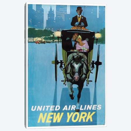 New York - United Airlines II Canvas Print #LIV232} Art Print