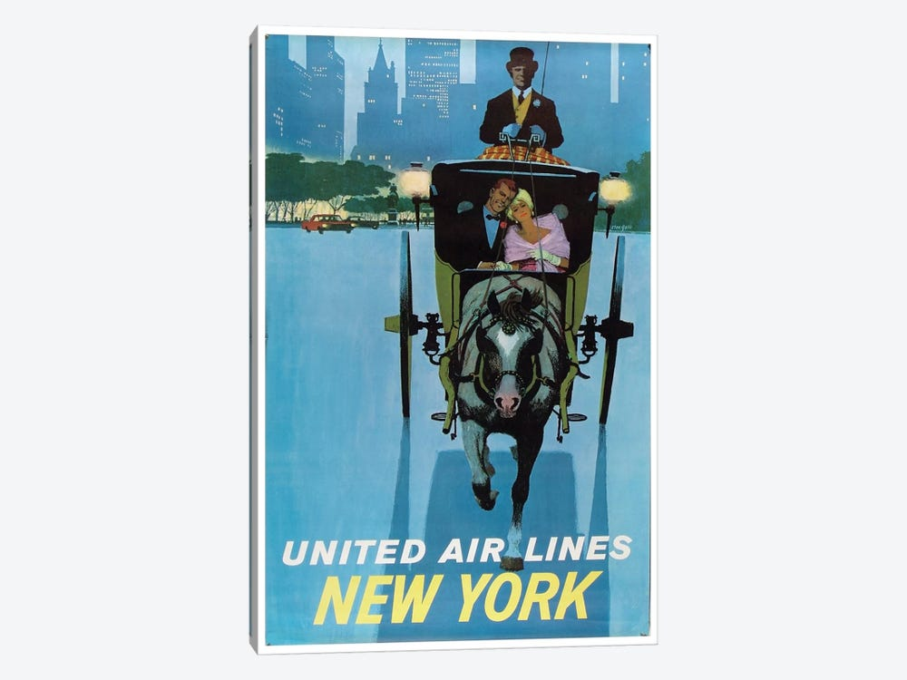 New York - United Airlines II by Unknown Artist 1-piece Canvas Art Print