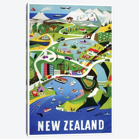 New Zealand I Canvas Print #LIV234} by Unknown Artist Canvas Wall Art