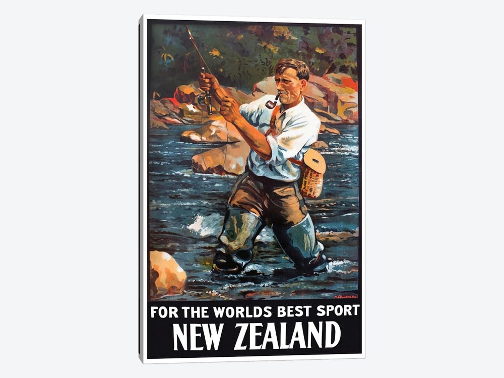 New Zealand: For The World's Best Sport by Unknown Artist 1-piece Canvas Art Print