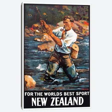 New Zealand: For The World's Best Sport Canvas Print #LIV236} by Unknown Artist Canvas Artwork